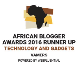 Vamers - Awards - African Blogger Awards 2016 - Runner Up - Technology and Gadgets Category