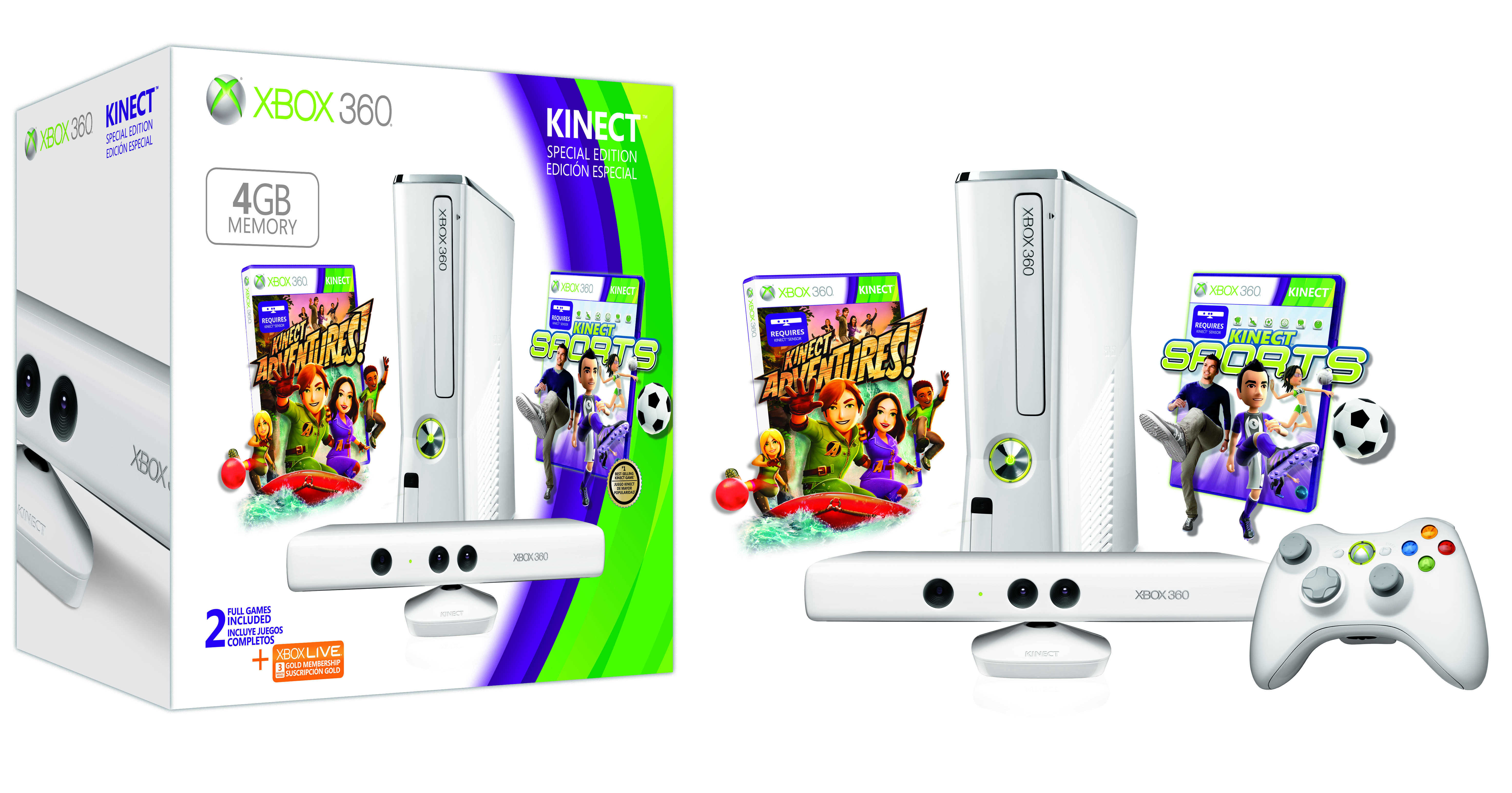 News Xbox 360 Special Edition 4gb Kinect Family Bundle Vamers