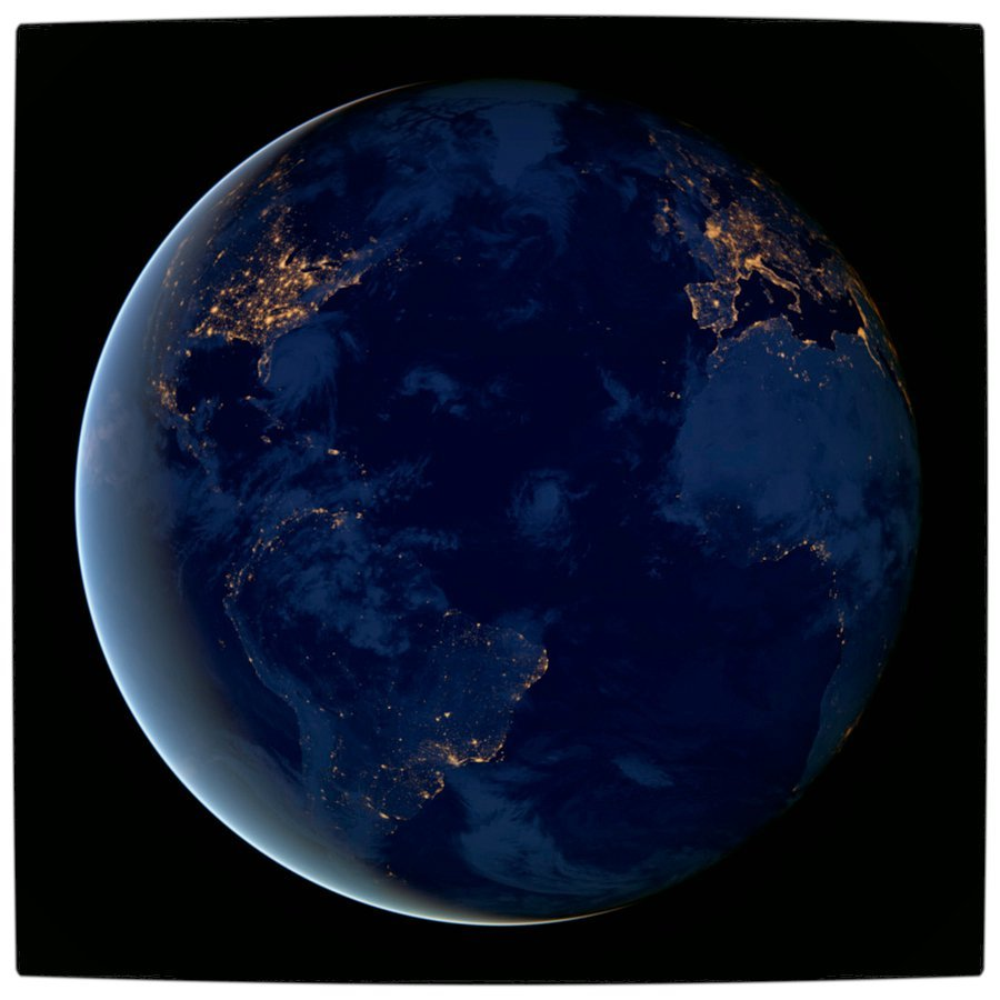 planet earth from space at night -#main