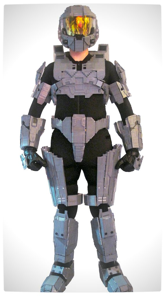 Vamers - Wearable Master Chief Lego Suit - Full Frontal