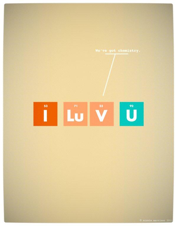 Vamers - Artistry - Minimalist Geek Love Posters - We've Got Chemistry