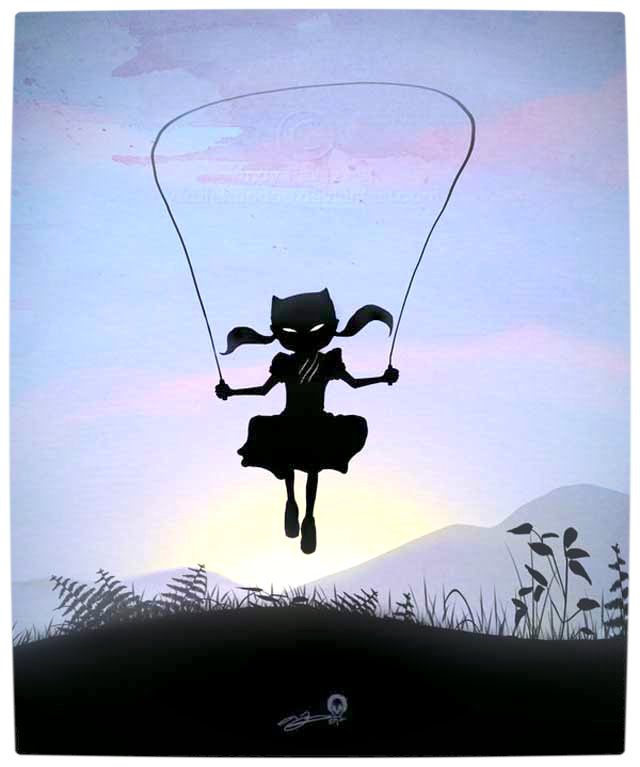 Vamers - Artistry - Superhero Kids Silhouettes - Catwoman Kid