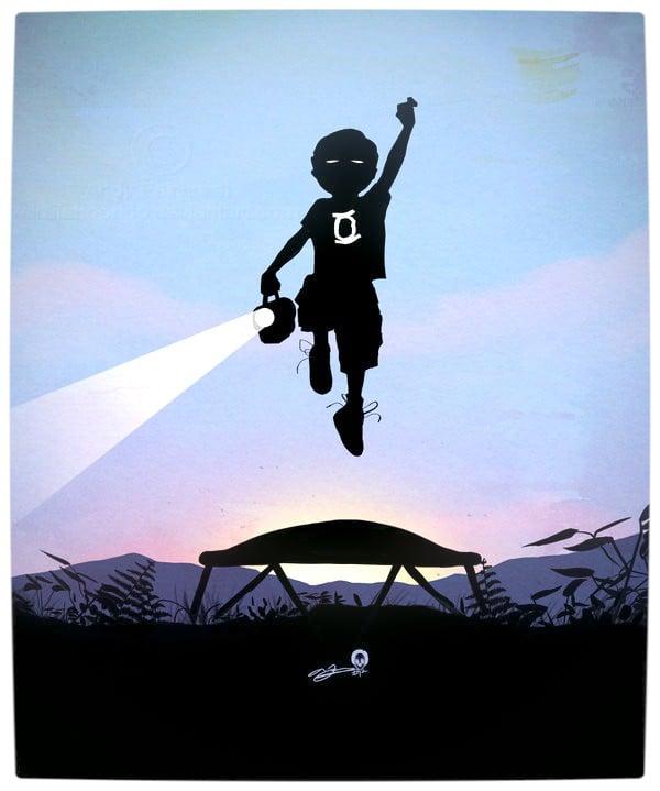 Vamers - Artistry - Superhero Kids Silhouettes - Green Lantern Kid