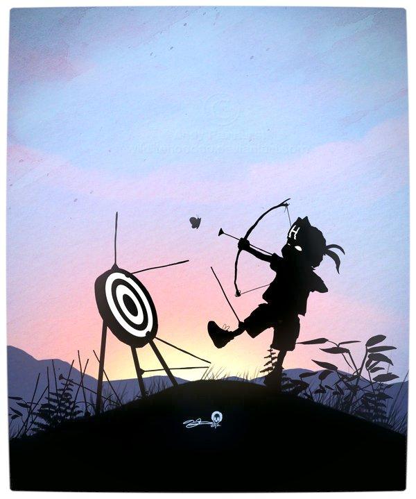 Vamers - Artistry - Superhero Kids Silhouettes - Hawkeye Kid