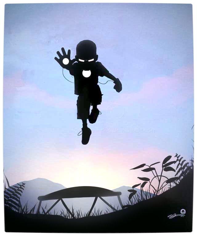 Vamers - Artistry - Superhero Kids Silhouettes - Iron Man Kid
