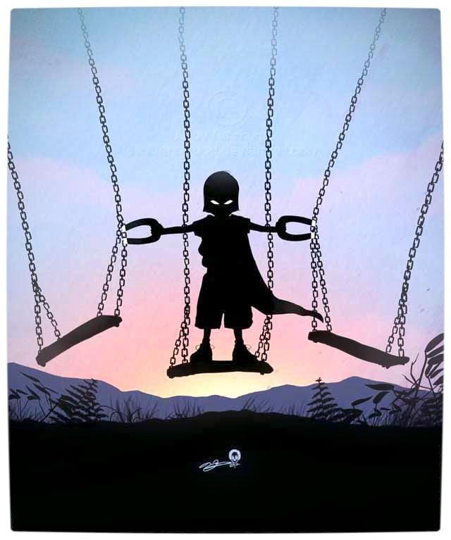 Vamers - Artistry - Superhero Kids Silhouettes - Magneto Kid