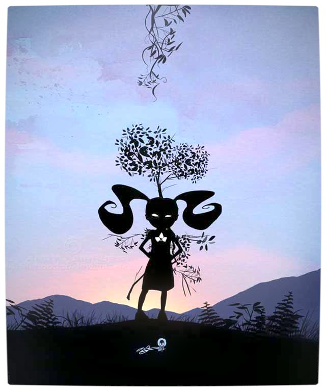 Vamers - Artistry - Superhero Kids Silhouettes - Poison Ivy Kid
