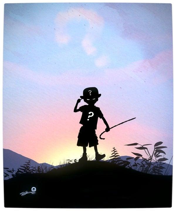 Vamers - Artistry - Superhero Kids Silhouettes - Riddler Kid