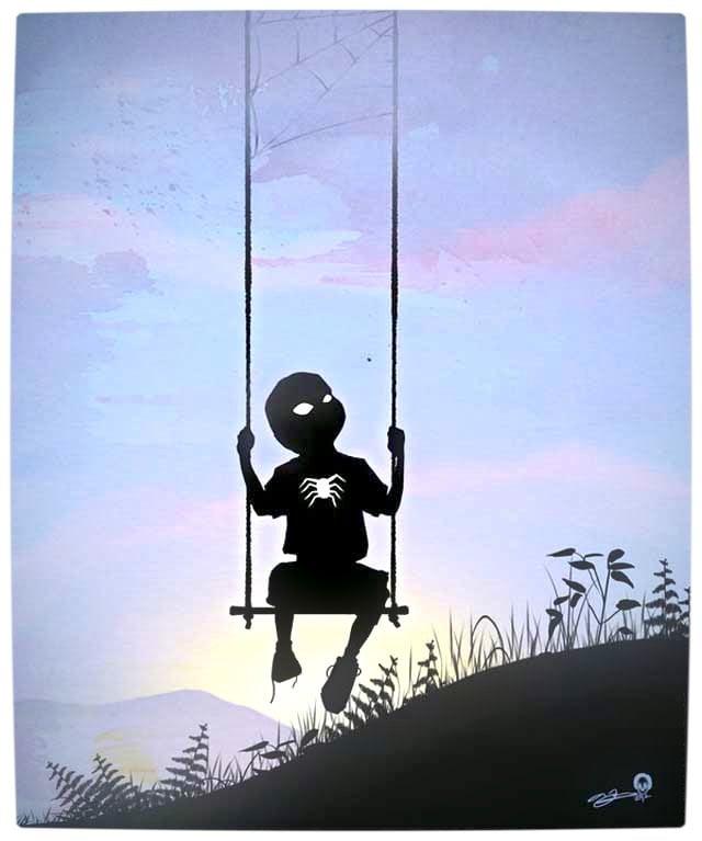 Vamers - Artistry - Superhero Kids Silhouettes - Spider-Man Kid