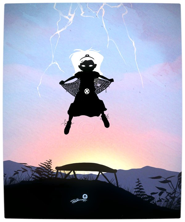 Vamers - Artistry - Superhero Kids Silhouettes - Storm Kid