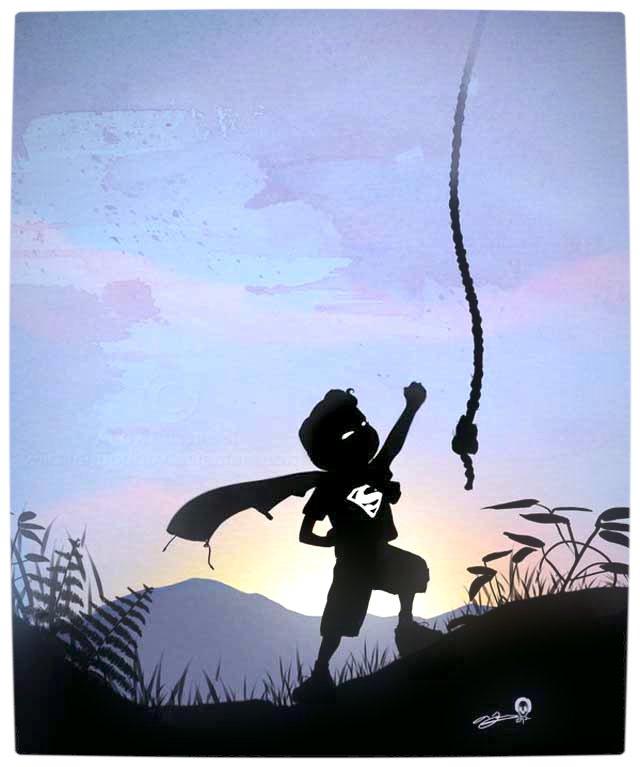 Vamers - Artistry - Superhero Kids Silhouettes - Superman Kid
