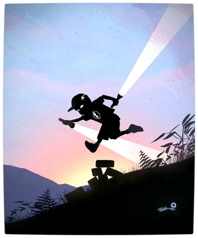 Vamers - Artistry - Superhero Kids Silhouettes - The Flash Kid