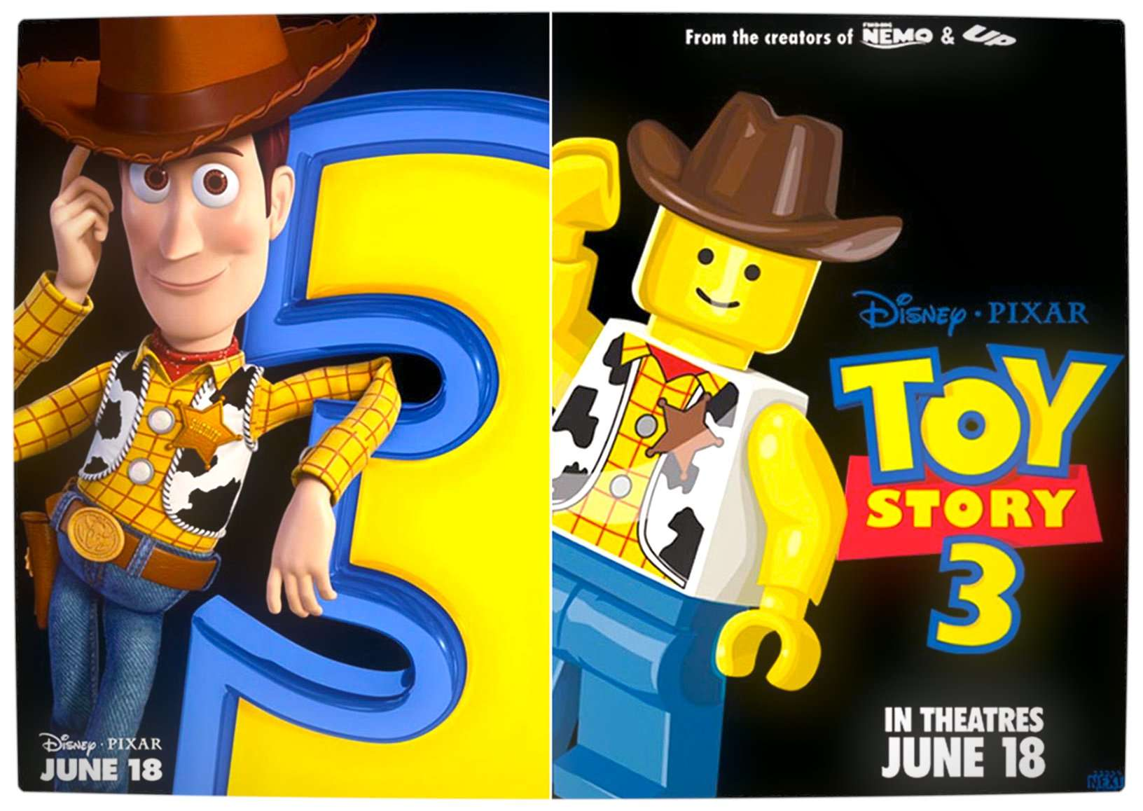 Lego Toy 3 : Blockbuster movie posters recreated using lego characters