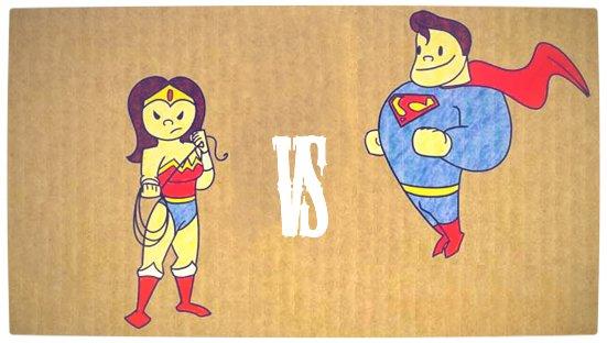 Vamers - Geekosphere - Artistry - Wonderwoman vs Superman - Banner