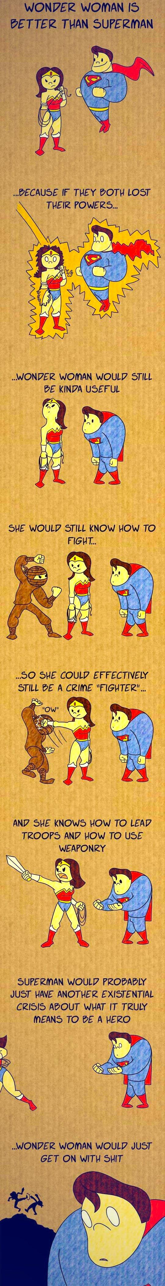 Vamers - Geekosphere - Humour - Wonder Woman vs Superman