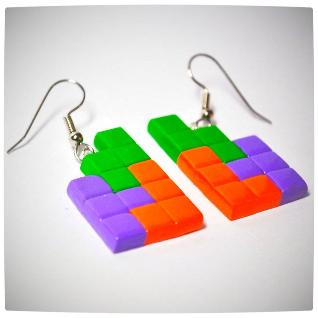Vamers - Geekosphere - SUATMM - OhMyGeekness by Jess Firsoff - Tetris Earrings