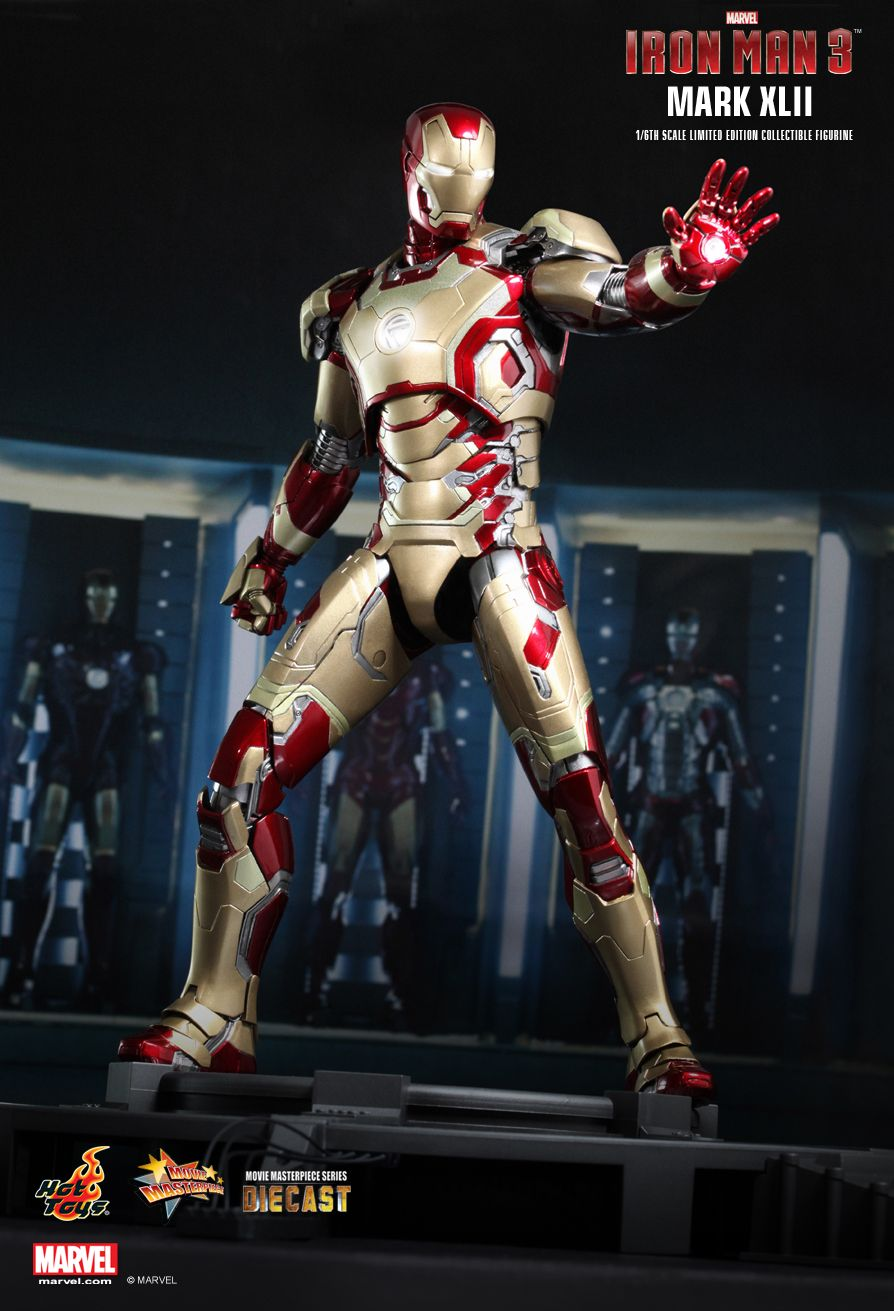 Iron Man 3 Toys ~ Hot toys iron man mark xlii patriot diecast