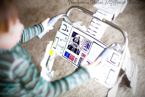 Vamers - Geekosphere - G-Life - Recovering 4 Year Old Boy Gets Custom Star Wars AT-AT Walker - Walking Being Walked