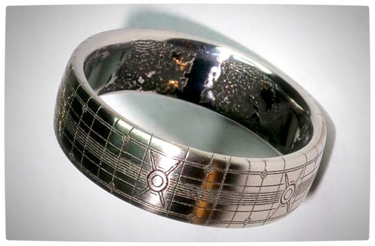 vamers geekosphere suatmm fandom titanium halo wedding ring is gorgeous - Halo Wedding Ring