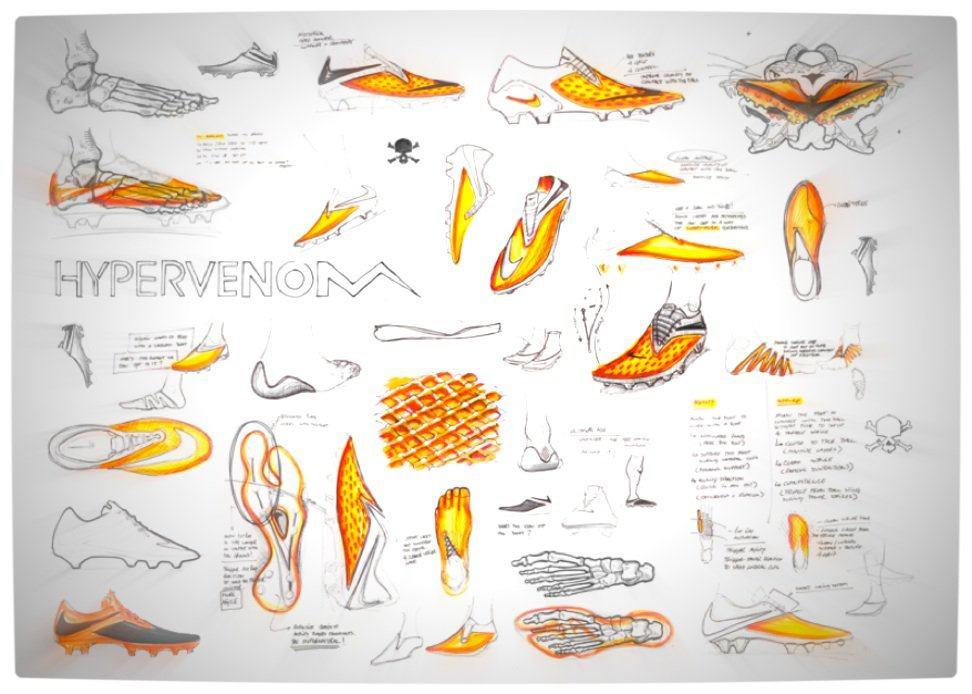 Vamers - FYI - Apparel - Nike Hypervenom Launch - Hypervenom Design Sketches