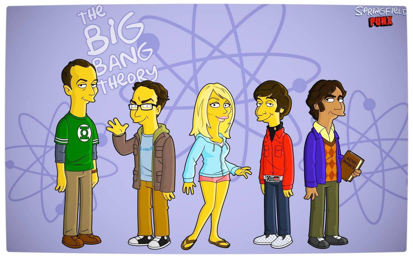 Vamers Humour - The Big Bang Theory - The Simpsons Mash-Up - Springfield Punx Wallpaper