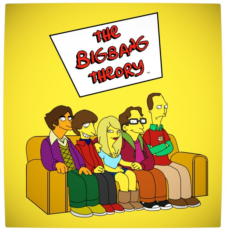 Vamers Humour - The Big Bang Theory - The Simpsons Mash-Up
