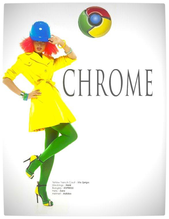 Vamers - Apparel - Ladies Fashion Inspired by Internet Browsers - Viktorija Pashuta - Chrome