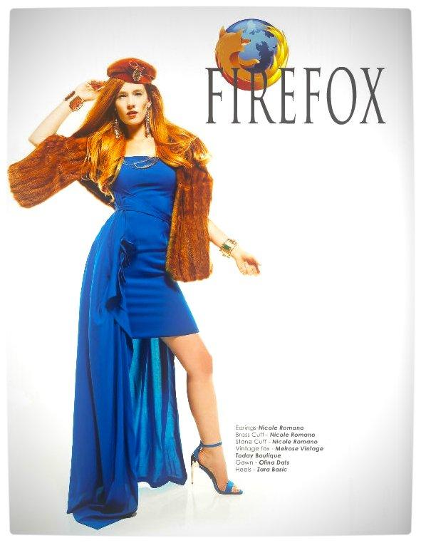 Vamers - Apparel - Ladies Fashion Inspired by Internet Browsers - Viktorija Pashuta - Firefox