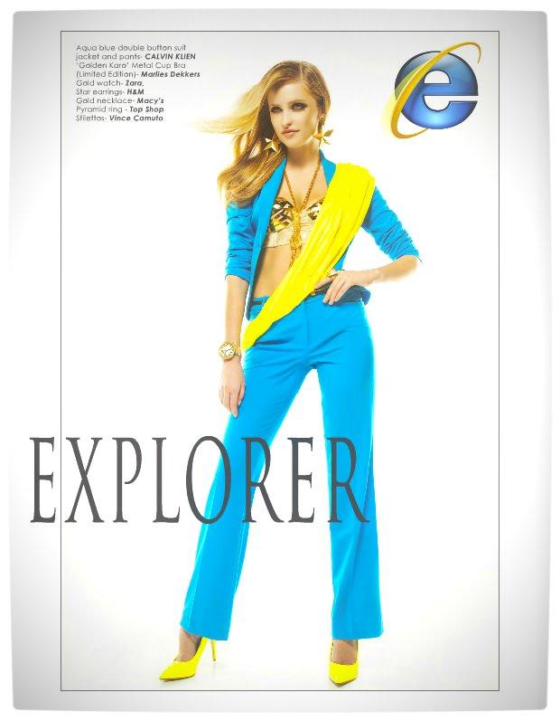 Vamers - Apparel - Ladies Fashion Inspired by Internet Browsers - Viktorija Pashuta - Internet Explorer