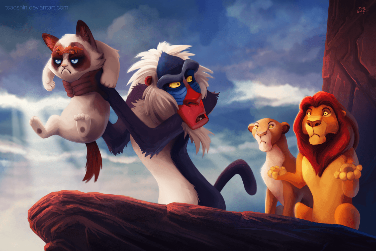 Vamers - Artistry - Grumpy Cat Phtobombs Disney Classics - Artwork by Eric Proctor AKA TsaoShin - NO to the Circle of Life