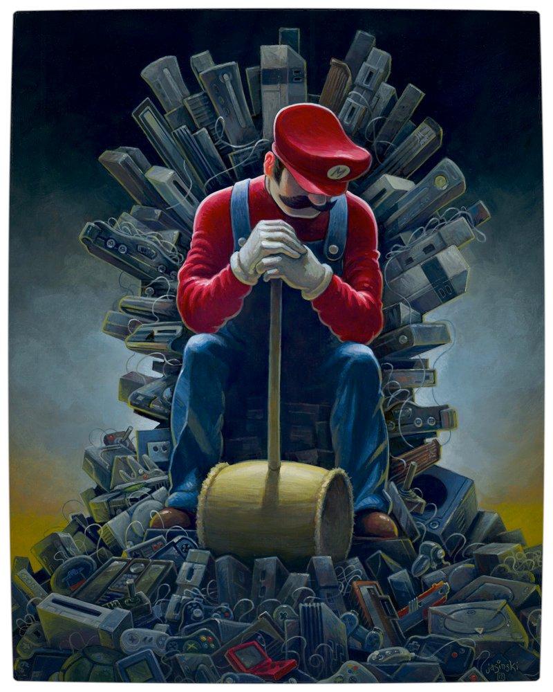 Vamers - Artistry - Mario's Throne of Games by Jasinki