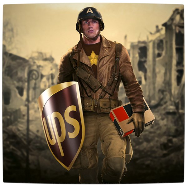 Vamers - Artistry - What if your favourite superhero had a corporate sponsorship - Captain America sponsored by UPS