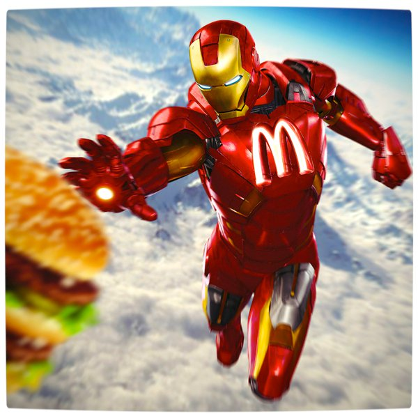 Vamers - Artistry - What if your favourite superhero had a corporate sponsorship - Iron-Man sponsored by MacDonalds 01