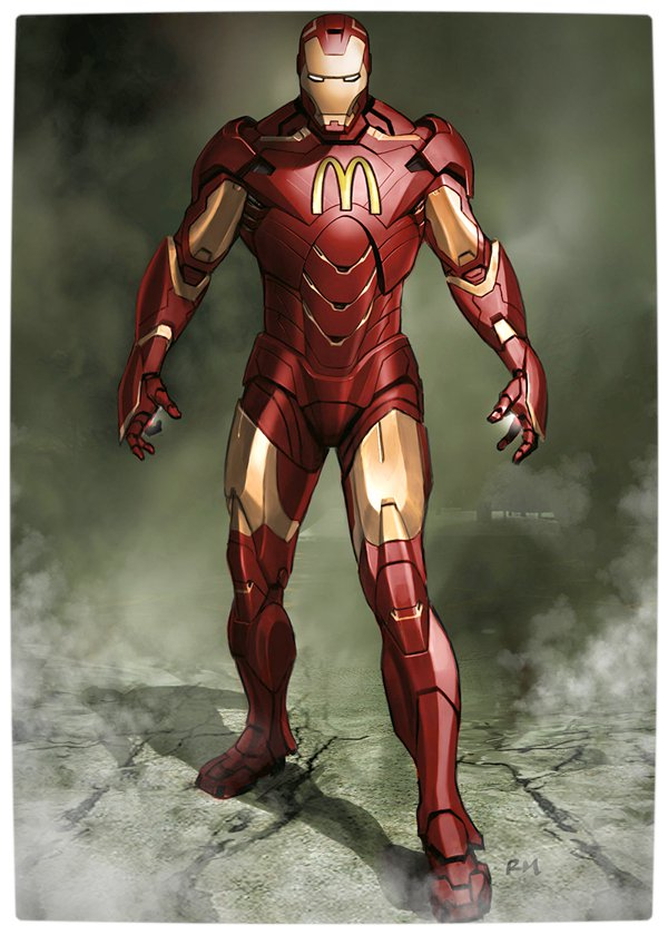 Vamers - Artistry - What if your favourite superhero had a corporate sponsorship - Iron-Man sponsored by MacDonalds 03