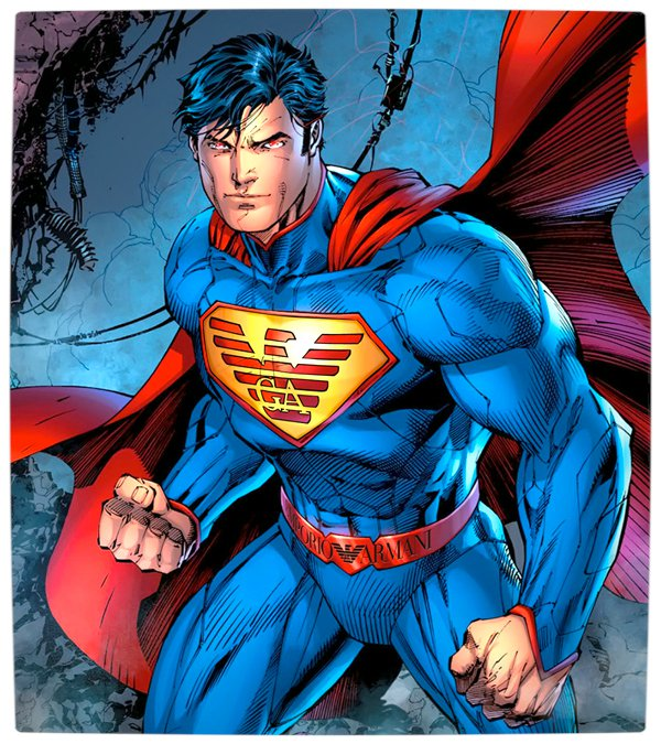 Vamers - Artistry - What if your favourite superhero had a corporate sponsorship - Superman sponsored by Armani 01