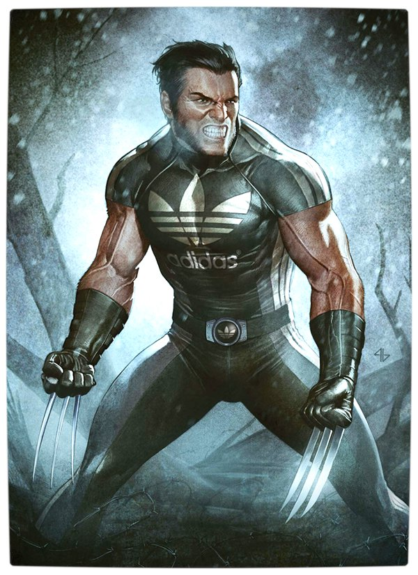 Vamers - Artistry - What if your favourite superhero had a corporate sponsorship - Wolverine sponsored by Adidas