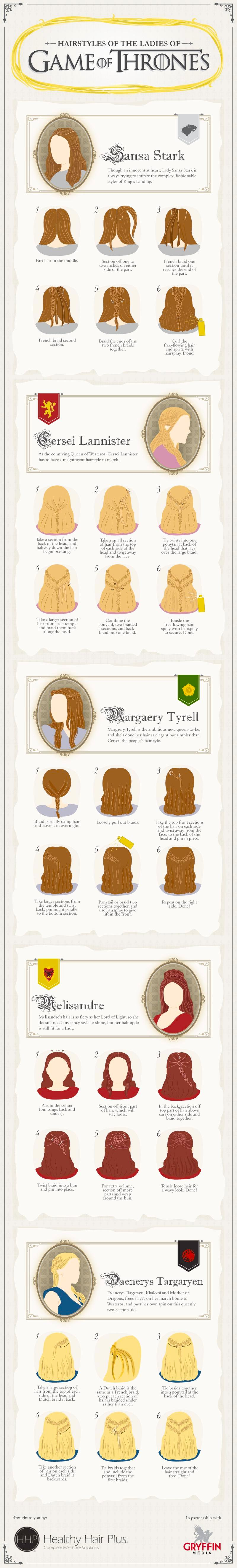 Vamers - G-Life - Braid Your Hair like the Ladies of Game of Thrones with this Handy Guide - Full