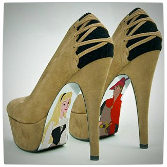 Vamers - G-Life - Sexy Shoes Inspired by Disney Princesses - Sleeping Beauty - Princess Aurora and Prince Phillip High Heels