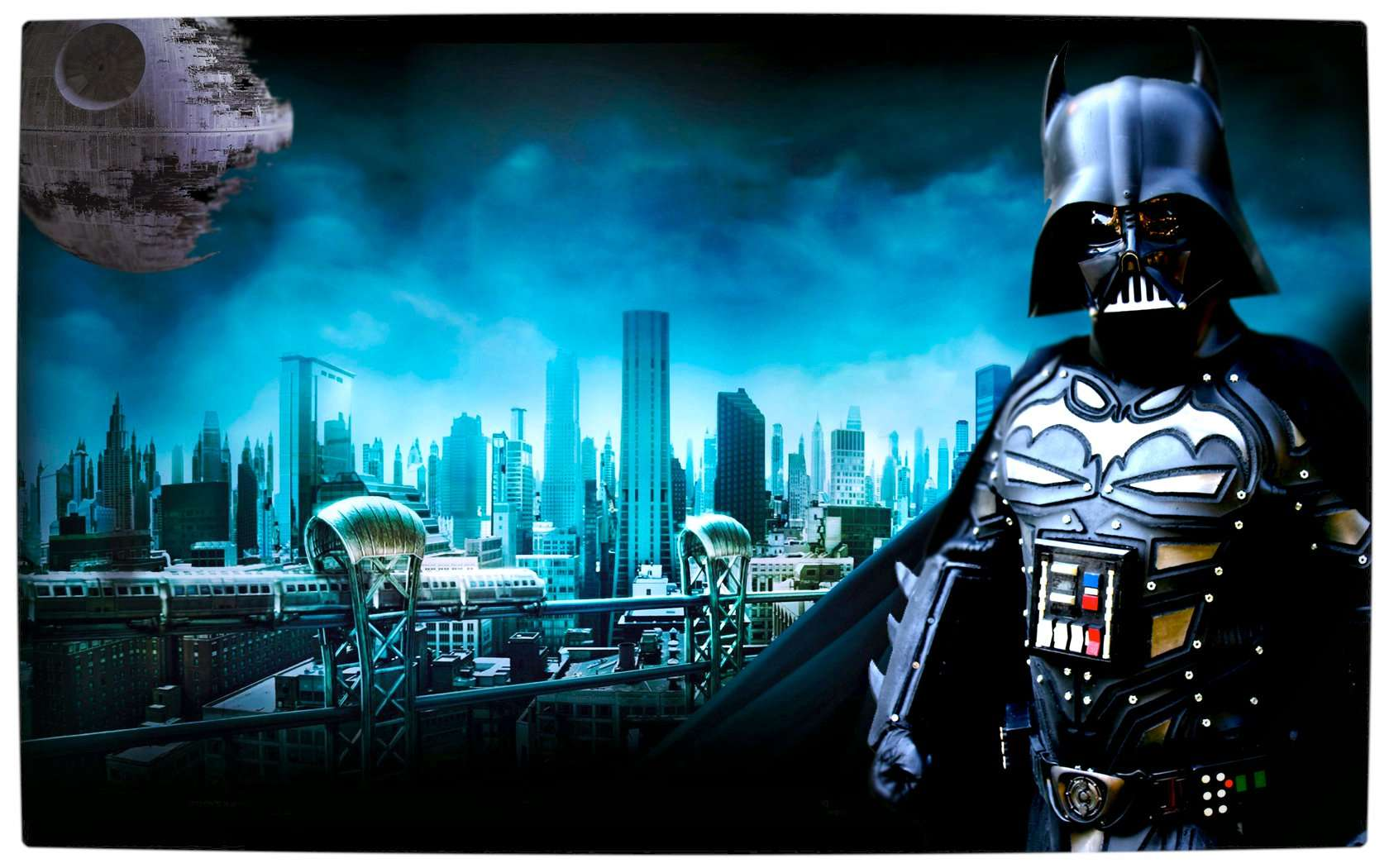 Vamers - Artistry - Bat Vader is The Dark Knight of the Sith - Batman and Darth Vader Mash-Up - Art by Malmey Studios