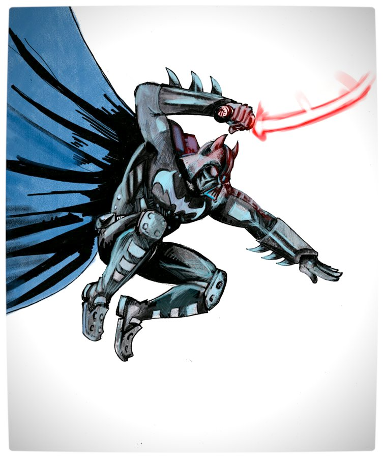 Vamers - Artistry - Bat Vader is The Dark Knight of the Sith - Batman and Darth Vader Mash-Up - Art by Pablo Leon