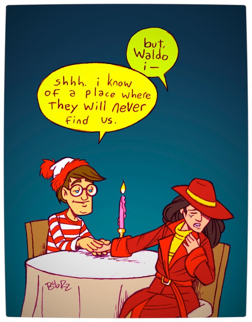 Vamers - Artistry - Carmen Sandiego and Where's Wally - A Perfectly Unfindable Match - The Affair by Rob Rz
