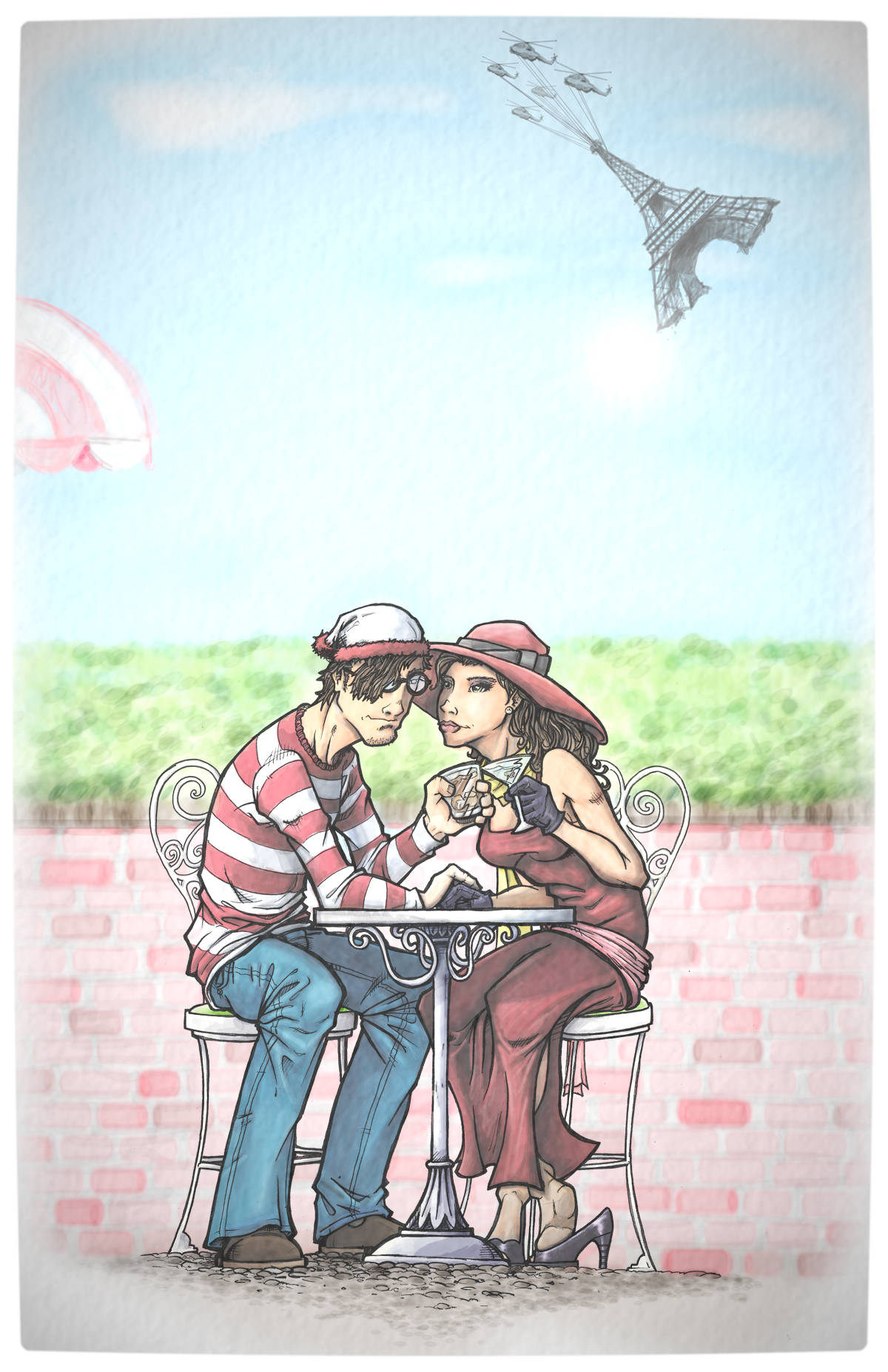 Vamers - Artistry - Carmen Sandiego and Where's Wally - A Perfectly Unfindable Match - Waldo Heart Carmen byInkycharland