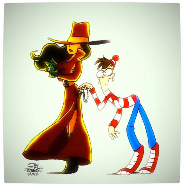 Vamers - Artistry - Carmen Sandiego and Where's Wally - A Perfectly Unfindable Match - Where is Waldo by Georgia Queef