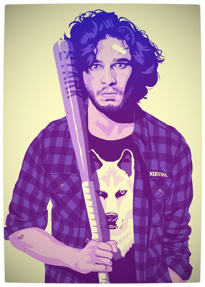 Vamers - Artistry - Game of Thrones meets Grand Theft Auto - Game of Thrones 80s and 90s Mash-up by Mike Wrobel - Jon Snow