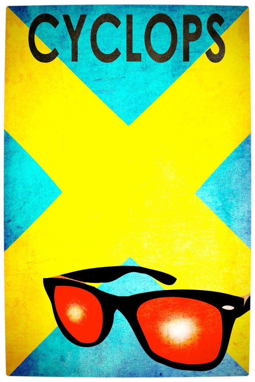 Vamers - Artistry - Minimalist X-Men Poster Art - Cyclops