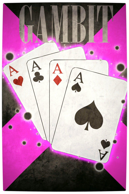 Vamers - Artistry - Minimalist X-Men Poster Art - Gambit