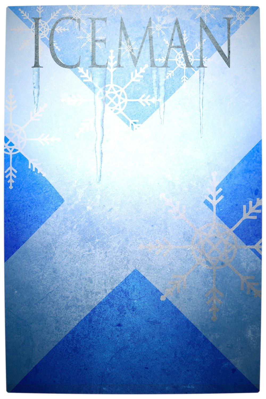 Vamers - Artistry - Minimalist X-Men Poster Art - Ice Man