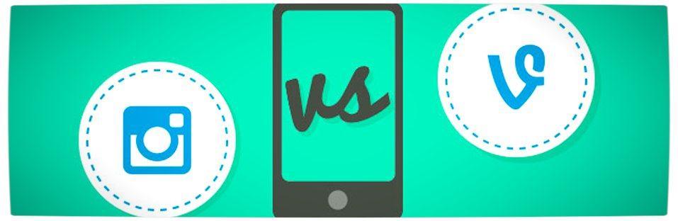 Vamers - Social Media - Instagram VS Vine - Stats and Information about Mobile Video - Banner