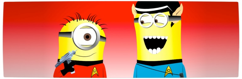 Vamers - Artistry - Star Trek Minions Banana Me Up - Rebooted Spock and Captain James T. Kirk - Banner
