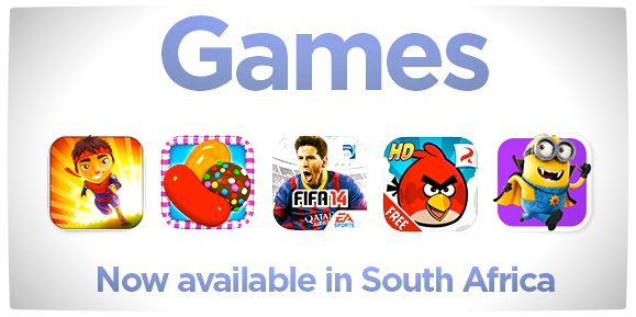 Vamers - FYI - Games Now Available through the iTunes App. Store in South Africa - Official Announcement Banner